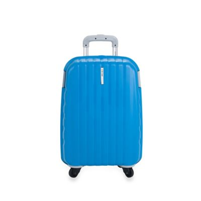 DELSEY Helium Colours 21-Inch Carry-On Spinner Suitcase in Blue