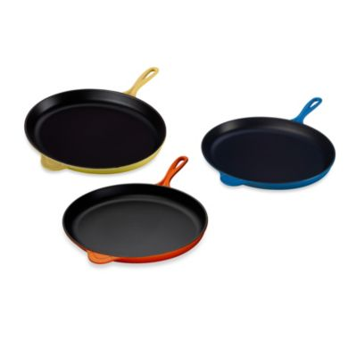 "Le Creuset® 15.75"" Oval Shaped Skillet in Marseille"
