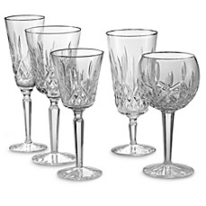 Waterford® Lismore Platinum Crystal Stemware and Barware