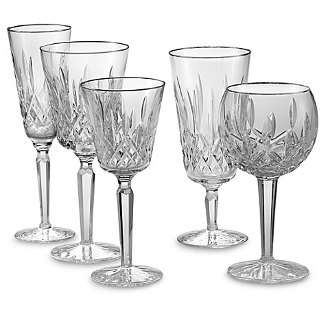 Waterford® Lismore Platinum Crystal Stemware and Barware ...