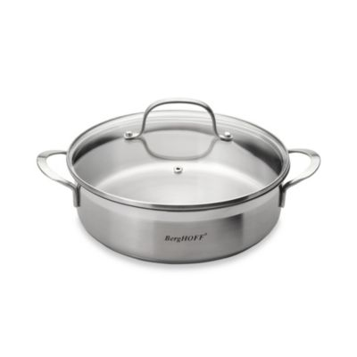 BergHOFF® Bistro 9.4-Inch Two Handle Covered Deep Skillet