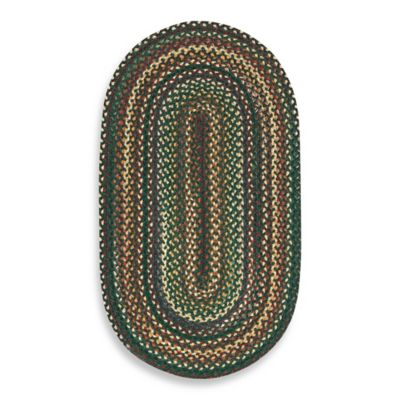 Capel Rugs Sherwood Forest Braided Oval Rug in Hunter Green