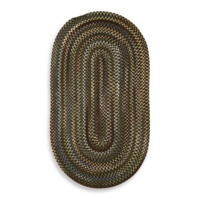 Capel Rugs Sherwood Forest 8-Foot x 11-Foot Braided Oval Rug in Java