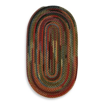 Capel Rugs Sherwood Forest Braided Oval Rug in Multi