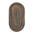 Capel Rugs Sherwood Forest Braided Oval Rug in Sage