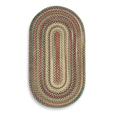 Capel Rugs Sherwood Forest 2-Foot 3-Inch x 4-Foot Oval Braided Rug in Wheat