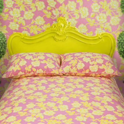 Wake Up Frankie Candy Roses Duvet Cover Set in Pink/Lemon