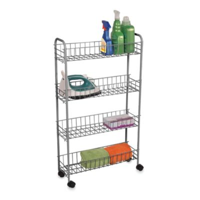 4-Tier Rolling Cart in Silver