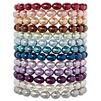 Honora Bridal Collection Sterling Silver 6-7mm Freshwater Cultured Pearl Oval 7.25-Inch Bracelet