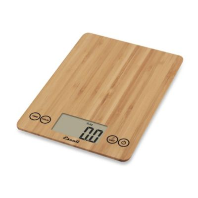 Escali® Bamboo Arti 15-Pound Food Scale