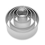 Ateco Stainless Steel Plain Round Cookie Cutters (Set of 4)
