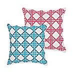 ecoaccents® Cane Lattice Cotton Canvas Square Toss Pillow