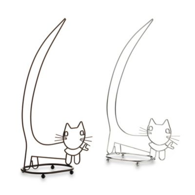 Taymor® Walking Cat Toilet Paper Holder in Chrome