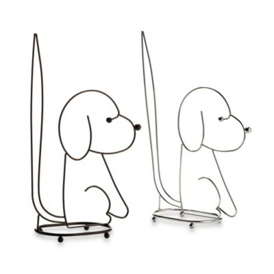 Taymor® Standing Dog Toilet Paper Holder in Chrome