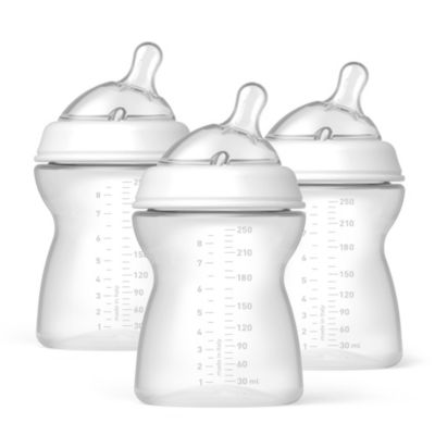 Chicco® NaturalFit™ 8-Ounce Bottles and Medium Flow Nipples (3-Pack)