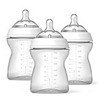 Chicco® NaturalFit™ 8-Ounce Bottles and Adjustible Flow Nipples (3-Pack)