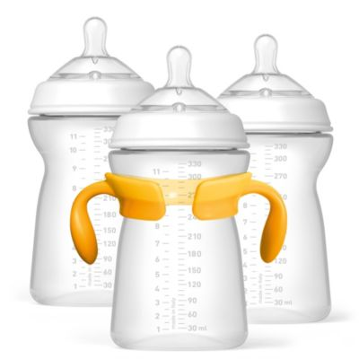 Chicco® NaturalFit™ 11-Ounce Bottles and Fast Flow Nipples (3-Pack)