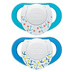 Chicco® NaturalFit™ Deco Orthodontic Pacifier in Blue (2-Pack)
