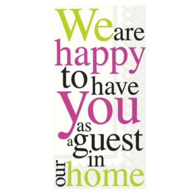 Happy to Have You 16-Count Decorative Paper Guest Towels