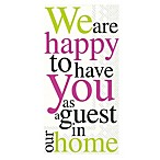 IHR Happy to Have You 16-Count Decorative Paper Guest Towels