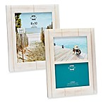 Prinz Seaside Distressed Wood Wooden Frame in White