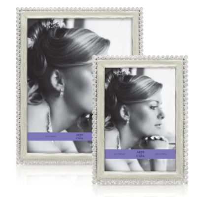 Argento Jadore Enamel Mother of Pearl 8-Inch x 10-Inch Photo Frame