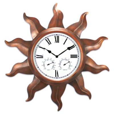 Copper Sun 24-Inch Indoor/Outdoor Clock