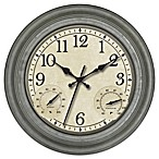 Galvanized 16-Inch Indoor/Outdoor Clock