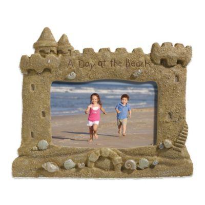 Grasslands Road® Sandcastle 4-Inch x 6-Inch Photo Frame