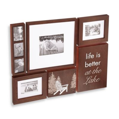 Wallverbs™ Lake/Lodge 6-Piece Frame and Plaque Set