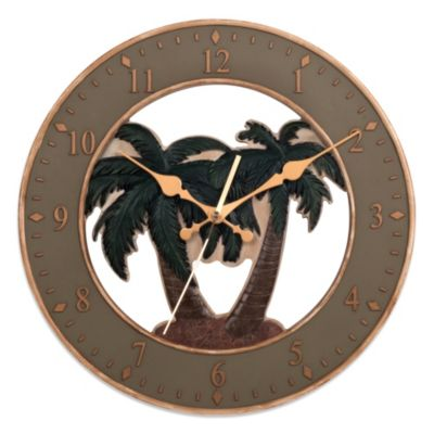 Resin Palm Tree Wall Clock