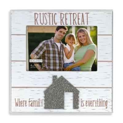 Malden® Rustic Retreat 4-Inch x 6-Inch Picture Frame in Cream
