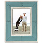 Malden® Coastal Collection 5-Inch x 7-Inch Weathered Picture Frame in Aqua
