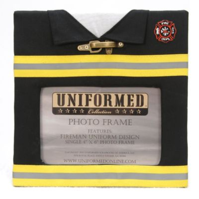 Fire Fighter Uniform 4-Inch x 6-Inch Photo Frame