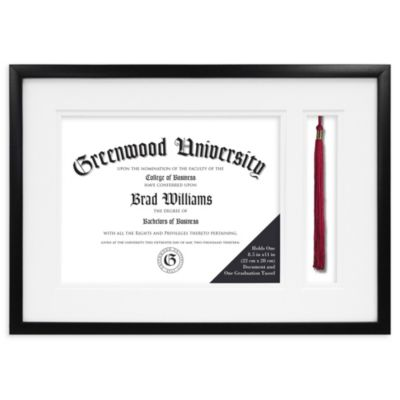 Graduation Diploma and Tassel 8.5-Inch x 11-Inch Frame