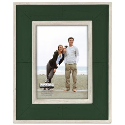 Malden® Coastal Collection 5-Inch x 7-Inch Weathered Picture Frame in Hunter Green