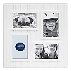 Wainscot 4-Opening Picture Frame in White