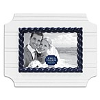 Wainscot Picture Frame with Blue Rope Detail