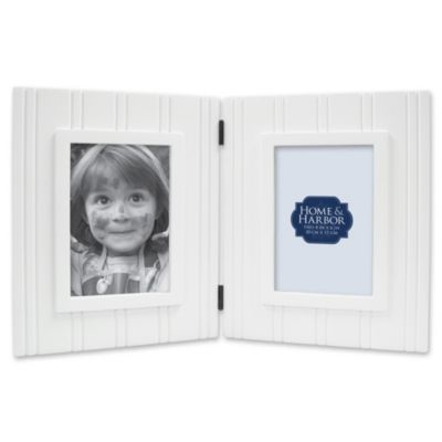 Wainscot 4-Inch x 6-Inch Two-Opening Picture Frame in White