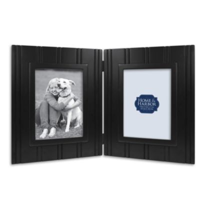 Wainscot 5-Inch x 7-Inch Two-Opening Picture Frame in Black