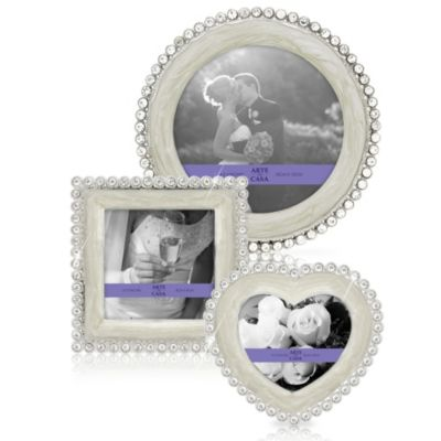 Argento Enamel/Genuine Crystal Frames Set (Set of 3)