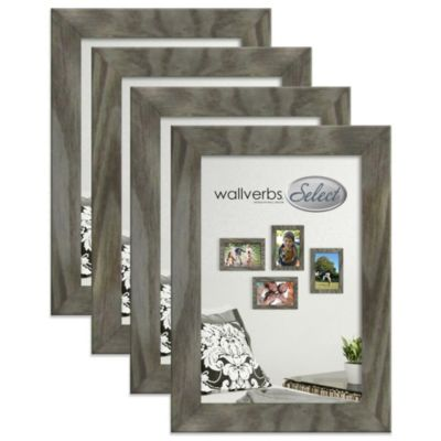 "Wallverbs™ Organic ""Live, Love, Laugh"" Blossom 4-Piece Picture Frame Add-On Set in Grey"