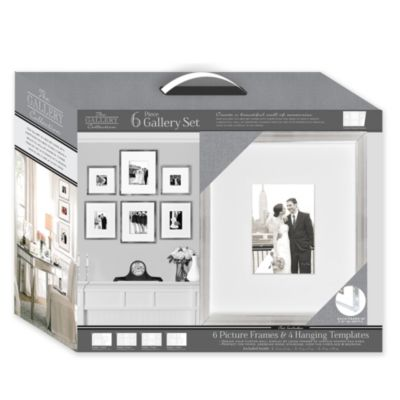 Matted Silver 6-Piece Frame Gallery Set