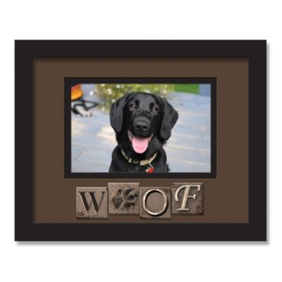 Woof Sentiment Picture Frame in Black