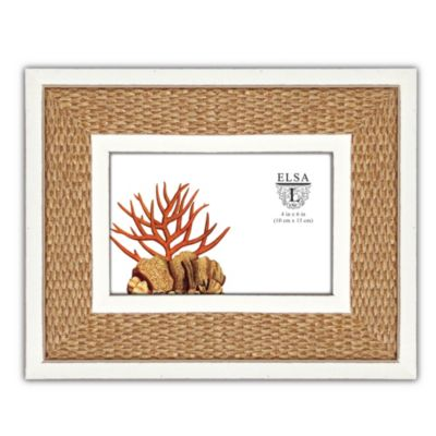 Elsa L Picture Frame with Humboldt Sea Grass Mat in Ivory