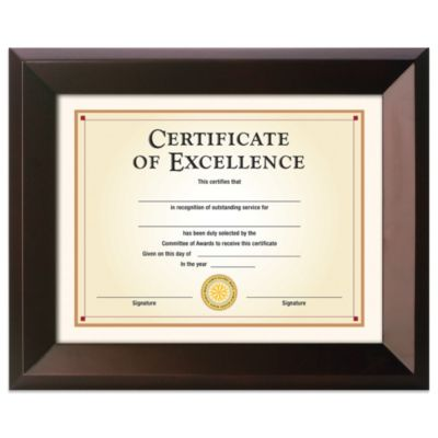 8.5-Inch x 11-Inch Elegant Document Frame in Executive Espresso