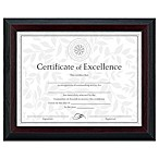 8.5-Inch x 11-Inch Document Frame in Black and Walnut Stepped