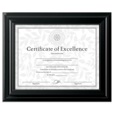 8.5-Inch x 11-Inch Document Frame in High Gloss Black