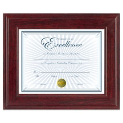 8.5-Inch x 11-Inch Document Wood Frame in Executive Mahogany
