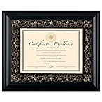 8.5-Inch x 11-Inch Deluxe Document Wood Frame in Florence Black
